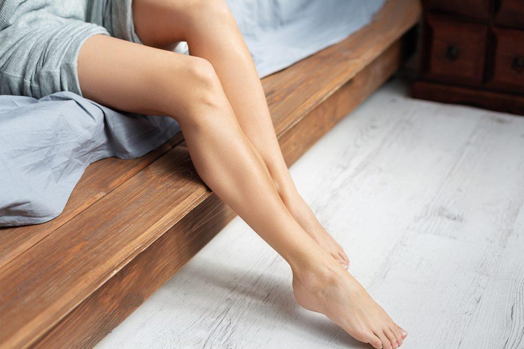 Gambe perfettamente depilate. Epilazione Definitiva