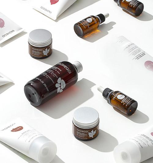 Immagine dei prodotti della linea Bio+ Corpo di Vagheggi